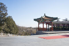 Asian Chinese, Beijing, Badachu, park, historic buildings Royalty Free Stock Photo