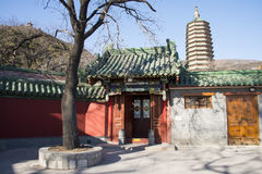 Asian Chinese, Beijing, Badachu, park, historic buildings Royalty Free Stock Image