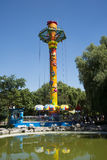 Asian Chinese, Beijing, Chaoyang Park, the brave amusement park, Stock Photo
