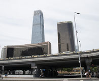 Asian Chinese, Beijing, Chinese International Trade Center, guo mao  Bridge Royalty Free Stock Photography