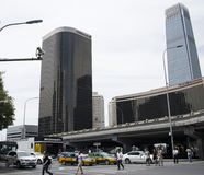 Asian Chinese, Beijing, Chinese International Trade Center, guo mao  Bridge Royalty Free Stock Photos