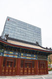 Asian Chinese, Beijing, Financial Street, modern architecture, buildings, classical architecture Stock Photos