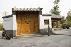 Asian Chinese, Beijing, Garden Expo, antique buildings, Stock Image