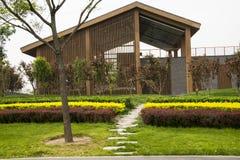 Asian Chinese Beijing Garden Expo Garden, house, g Royalty Free Stock Image