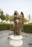 Asian Chinese, Beijing, Garden Show Park, landscape sculpture, angel Royalty Free Stock Photo
