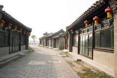 Asian Chinese, Beijing, the Grande Canale Forest Park,Antique building Royalty Free Stock Photography
