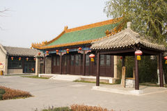 Asian Chinese, Beijing, the Grande Canale Forest Park,Antique building Royalty Free Stock Photos