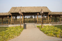 Asian Chinese, Beijing, the Grande Canale Forest Park,Antique building Royalty Free Stock Image