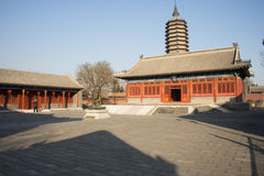 Asian Chinese, Beijing, historic buildings, a Buddhist monastery, Tongzhou Sanjiao Temple Royalty Free Stock Photography