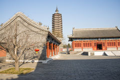 Asian Chinese, Beijing, historic buildings, a Buddhist monastery, Tongzhou Sanjiao Temple Royalty Free Stock Image