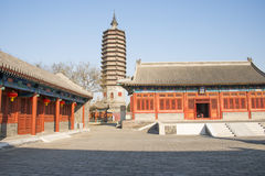 Asian Chinese, Beijing, historic buildings, a Buddhist monastery, Tongzhou Sanjiao Temple Stock Photo