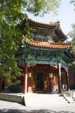 Asian Chinese, Beijing, historic buildings, The Lama Temple Royalty Free Stock Photos