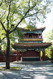 Asian Chinese, Beijing, historic buildings, The Lama Temple. Asian Chinese, Beijing, Lama Temple, temples of Tibetan Buddhism, its architectural style is very Stock Images