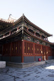 Asian Chinese, Beijing, historic buildings, The Lama Temple Royalty Free Stock Image