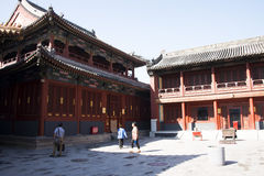 Asian Chinese, Beijing, historic buildings, The Lama Temple Stock Photography