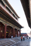 Asian Chinese, Beijing, historic buildings, The Lama Temple Stock Image