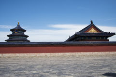 Asian Chinese, Beijing, historic buildings, Tiantan, Stock Photos