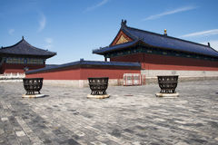 Asian Chinese, Beijing, historic buildings, Tiantan, Royalty Free Stock Photo