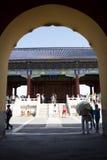 Asian Chinese, Beijing, historic buildings, the Tiantan,qinian  the door Stock Photography