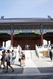 Asian Chinese, Beijing, historic buildings, the Tiantan,qinian  the door Stock Image