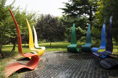 Asian Chinese, Beijing, International Sculpture Park, dream, support Stock Photo