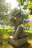 Asian Chinese, Beijing, International Sculpture Park, embroidery Royalty Free Stock Photography