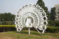Asian Chinese, Beijing, International Sculpture Park, isthe tailofthe peacock. Stock Photography
