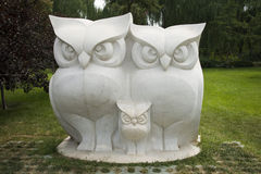 Asian Chinese, Beijing, International Sculpture Park, mascot, owl Stock Image
