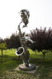 Asian Chinese, Beijing, International Sculpture Park, sculpture,Blow Sax, musician Stock Photography