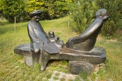 Asian Chinese, Beijing, International Sculpture Park, sculpture,Nostalgia Royalty Free Stock Images