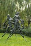 Asian Chinese, Beijing, International Sculpture Park, yangko dance Royalty Free Stock Images