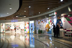 Asian Chinese, Beijing, Joy City Shopping Plaza,Interior, the shop layout, Royalty Free Stock Photo
