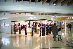 Asian Chinese, Beijing, Joy City Shopping Plaza,Interior, the shop layout, Royalty Free Stock Photography
