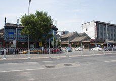Asian Chinese, Beijing, Liulichang, famous cultural street. Asian China, Liulichang Street, Beijing is a famous cultural street, Liulichang Culture Street, now Stock Image