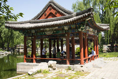 Asian Chinese, Beijing, Longtan Lake Park, antique buildings Stock Image