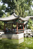 Asian Chinese, Beijing, Longtan Lake Park, antique buildings Stock Photos