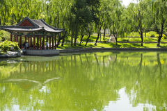 Asian Chinese, Beijing, Longtan Lake Park, antique buildings Royalty Free Stock Image