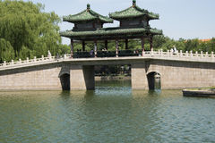 Asian Chinese, Beijing, Longtan Lake Park, antique buildings Stock Photo