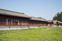 Asian Chinese, Beijing, Lugou Bridge square, the antique building Royalty Free Stock Images
