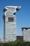 Asian Chinese, Beijing, modern architecture, Pangu plaza, Stock Photo