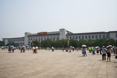 Asian Chinese, Beijing, National Museum of China Stock Photos