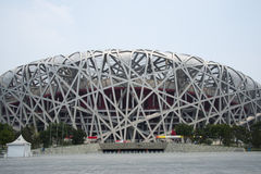 Asian Chinese, Beijing National Stadium, the bird's nest, Stock Photo