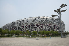Asian Chinese, Beijing National Stadium, the bird's nest, Stock Image