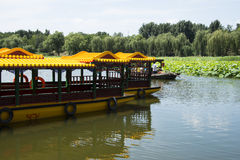 Asian Chinese, Beijing, Old Summer Palace, cruise, Stock Image