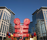 Asian Chinese, Beijing, Oriental Plaza, Wangfujing business district, the spring festival decoration Royalty Free Stock Photos