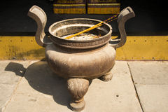 Asian Chinese, Beijing Park, Fahai Temple, incense Royalty Free Stock Photos