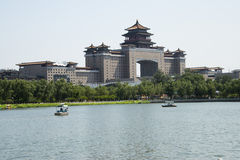 Asian Chinese, Beijing Railway Station and lotus pond park Royalty Free Stock Photography