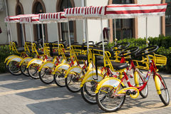 Asian Chinese, Beijing, sightseeing, bicycle Stock Photos