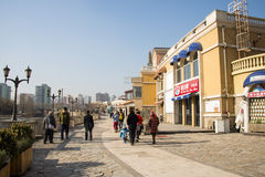 Asian Chinese, Beijing, Solana, European architecture Stock Photography