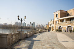 Asian Chinese, Beijing, Solana, European architecture Stock Photos